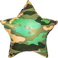 """Воздушный шар на 23 февраля звезда 46 см """"Камуфляж"""" - фото 5368"""