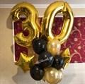 """Сет из воздушных шаров """"Золотой букет """" с цифрами - фото 5475"""
