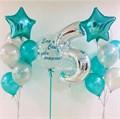 """Набор воздушных шаров с цифрой и """"Баблс"""" - фото 5715"""