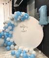 """Круглая фотозона из воздушных шаров """"Небесное настроение"""" - фото 6098"""