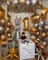 Оформление воздушными шарами с коробкой сюрприз - фото 6100