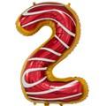 """Воздушный шар цифра """"2"""" пончик - фото 6173"""