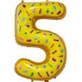 """Воздушный шар цифра """"5"""" пончик - фото 6184"""