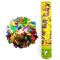 Пневмохлопушка (30 см), Смайл, Emoji, Металлизированные звезды (желтый) - фото 6354