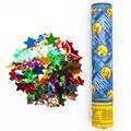 Пневмохлопушка (30 см), Смайл, Emoji, Металлизированные звезды (синий) - фото 6357
