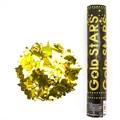 Пневмохлопушка (30 см), Металлизированные звезды, Золото - фото 6363