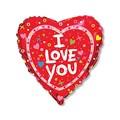 """Воздушный шар Сердце 46см """"I love you"""" для влюбленных - фото 6451"""