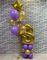 Воздушные шарики на день рождения с цифрой на стойке - фото 6614