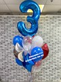Фонтан из шариков с цифрой - фото 6839