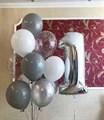 Композиция из воздушных шаров на день рождения с цифрой - фото 7226