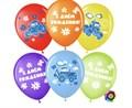 """Воздушные шарики на день рождения """"Синий трактор» - фото 7378"""