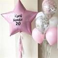 Букет воздушных шаров со звездой и гирляндой тассел - фото 7492