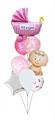 Воздушные шары на выписку девочки - фото 7529