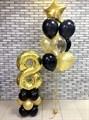 Воздушные шарики на день рождения с цифрой на подставке - фото 7532