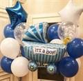 Набор воздушных шаров на выписку из роддома «Коляска» - фото 7582
