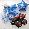 Набор воздушных шаров с большой звездой и цифрой - фото 7672